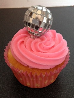 Mini Disco Ball Cake Topper