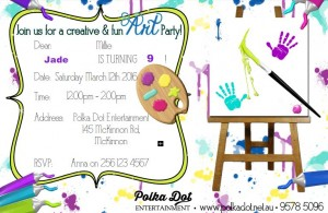 Girls or Boys Art and Craft Party