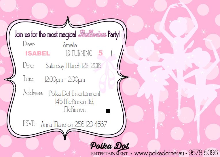 invitations polka dot entertainment
