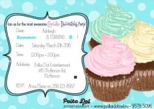 Girls Cupcake Decorating Party