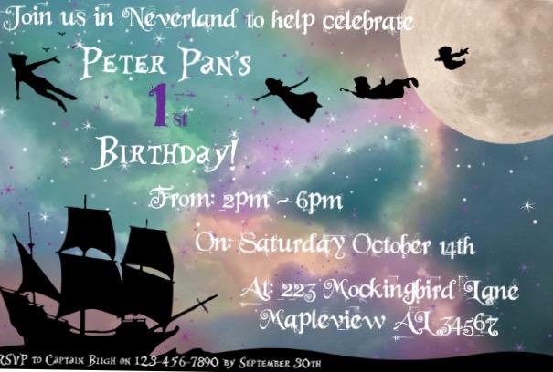 Peterpan invite