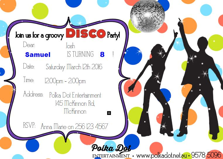 Boys Disco Party