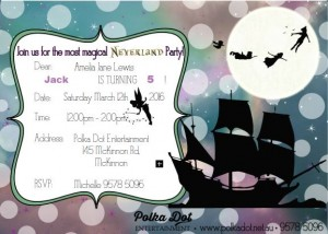 Boys Girls Netherland Neverland Fairy Pirate Party